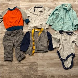Boys 6-12m sweaters, shirts, pants